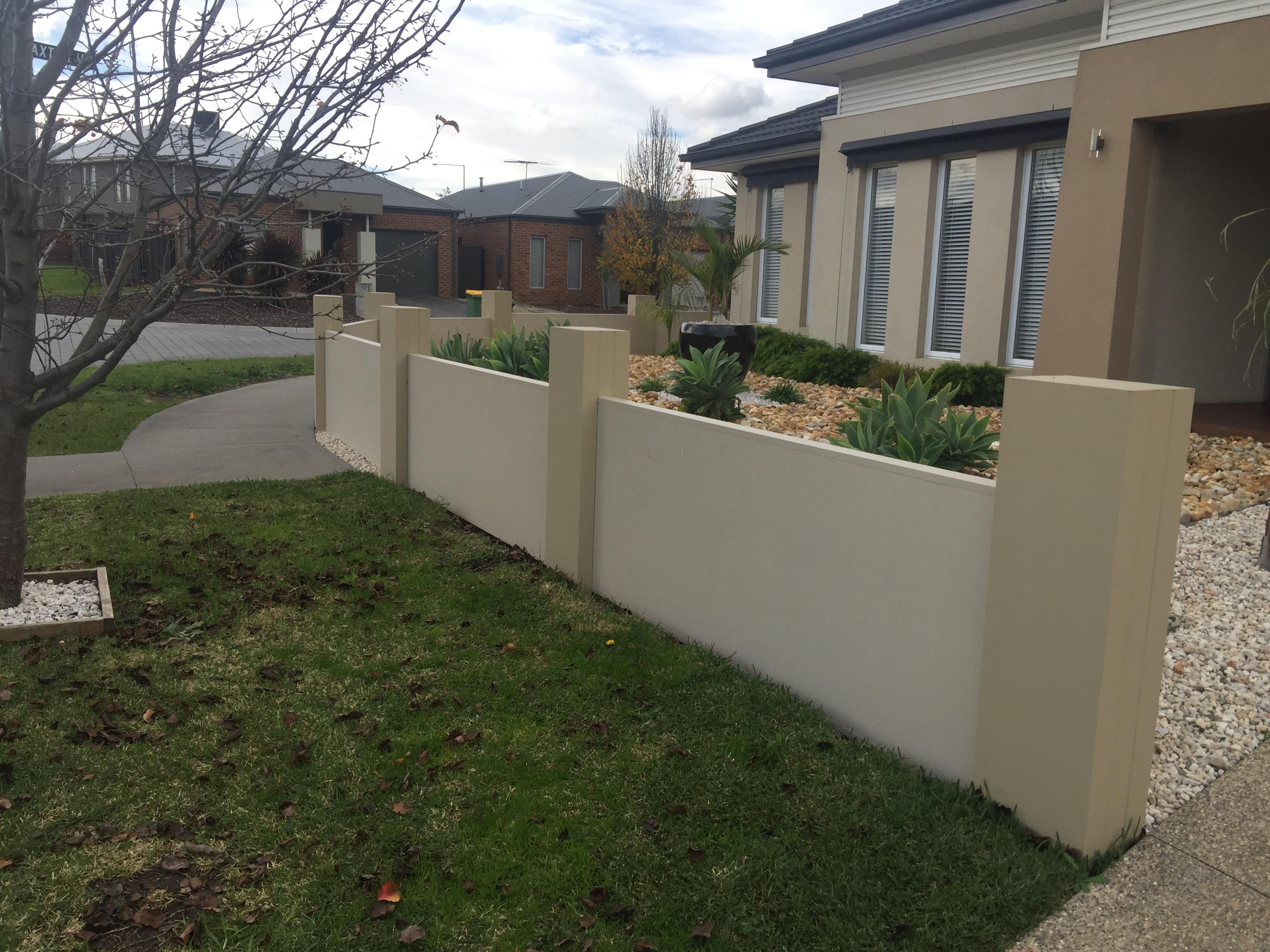 Modular wall fencing south east melbourne ash el